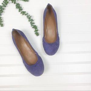 J. Crew Anya Purple Suede Ballet Flat sz 7